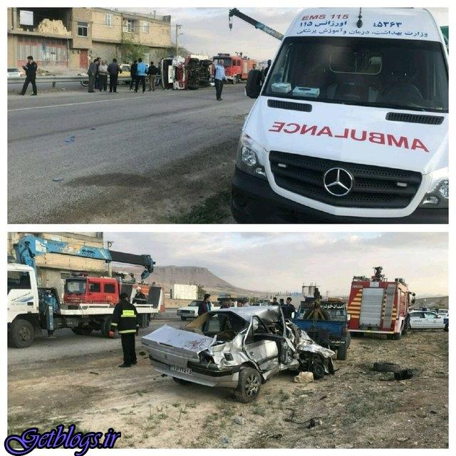 حادثه رانندگی در چهارمحال و بختیاری 15 کشته و مصدوم برجای گذاشت
