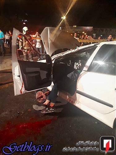 تصویرهای ، فوت دلخراش راننده جوان در بزرگراه یادگار امام(ره)