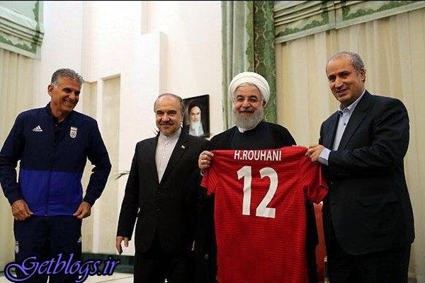 بازتاب ملاقات تیم ملی فوتبال کشور عزیزمان ایران با حسن روحانی در سایت AFC