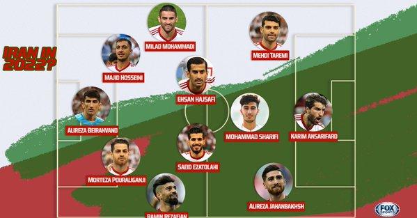 عکس ، ترکیب احتمالی کشور عزیزمان ایران در جام جهانی 2022 قطر+ نورافک