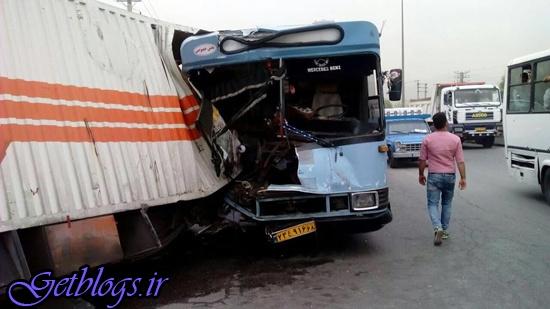 تصادف 2 اتوبوس در مشهد با 13 مجروح