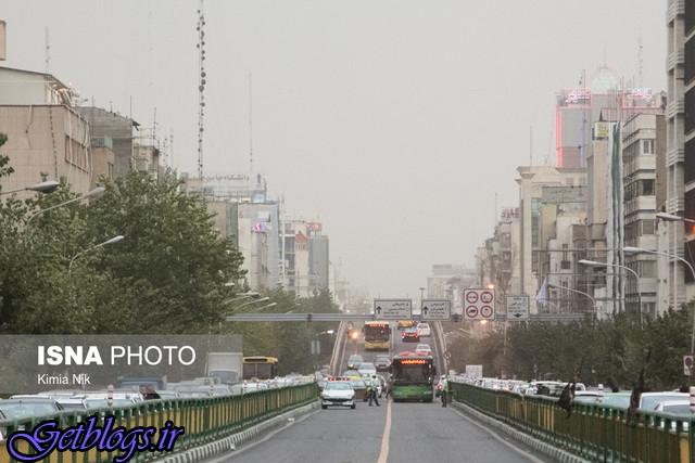 افزایش موقتی غلظت ذرات معلق در پایتخت کشور عزیزمان ایران