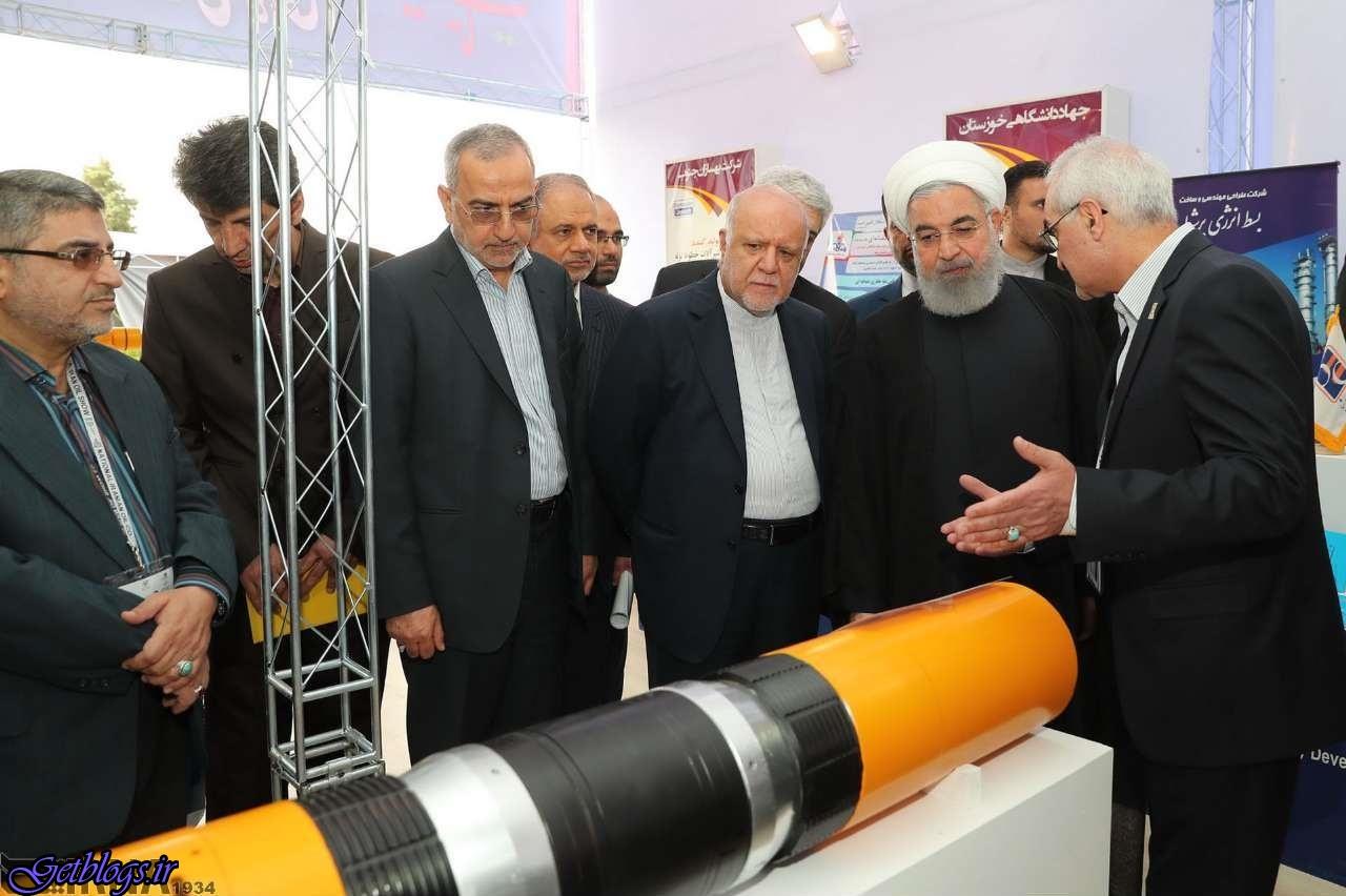 بازدید روحانی از نمایشگاه بینالمللی نفت، گاز، پالایش و پتروشیمی