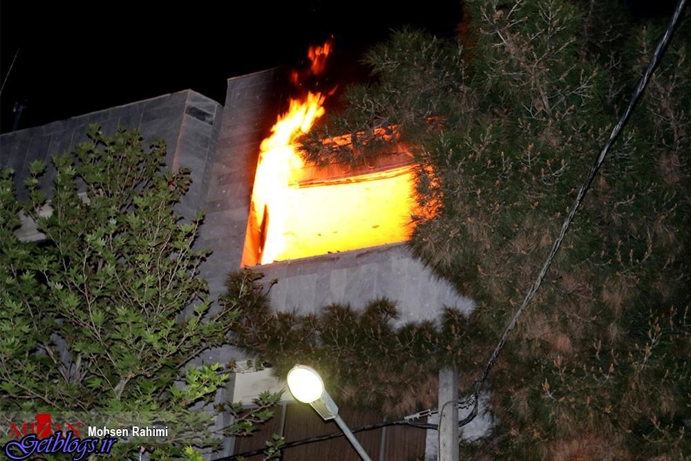 ۵ نفر نجات پیدا کردند , آتشسوزی منزل مسکونی در مشهد