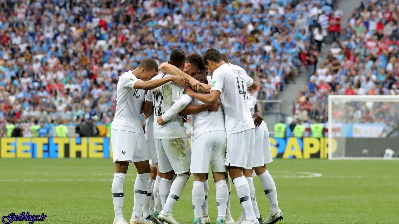 فرانسه با شکست اروگوئه نخستین مسافر نیمهنهایی شد