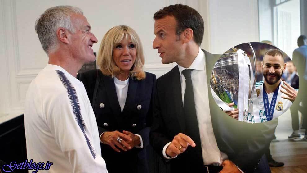 من مدیر جمهور این کشور هستم نه سرمربی / تصویر العمل ماکرون به غیبت بنزما در جام جهانی