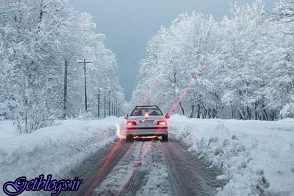 تاکید پلیس بر استفاده از زنجیرچرخ در محورهای برفگیر ، بارش برف و باران در چند محور مواصلاتی کشور
