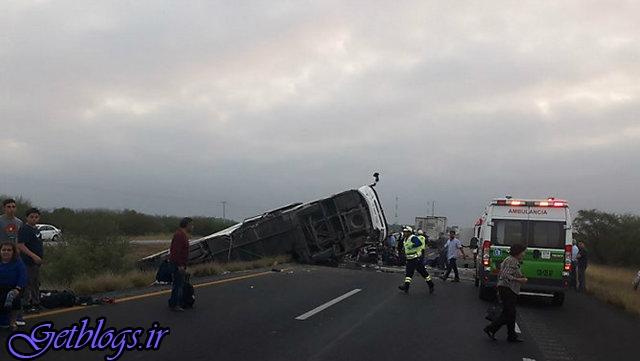 تصادف مرگبار تریلر با اتوبوس در سمنان