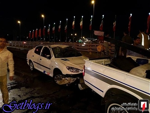 واژگونی پژو 206 در بزرگراه بعثت پایتخت کشور عزیزمان ایران (عکس)