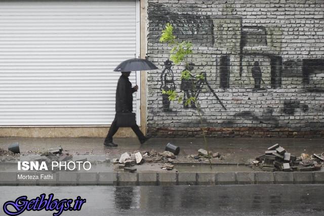 رگبار باران در نوار شمالی کشور