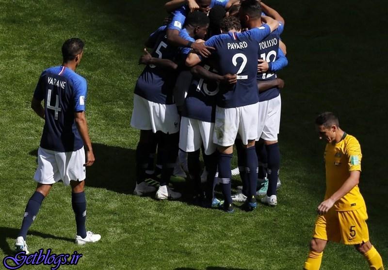 استرالیا دومین تیم ناکام قاره کهن ، برتری فرانسه در گام نخست