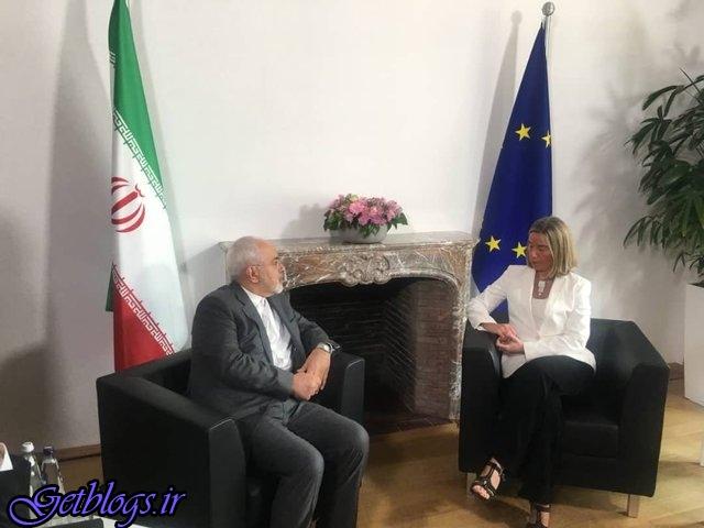 دیدار با وزیران خارجه سه کشور امشب ، ازسرگیری مذاکرات کارشناسی، ظریف با موگرینی دیدار کرد