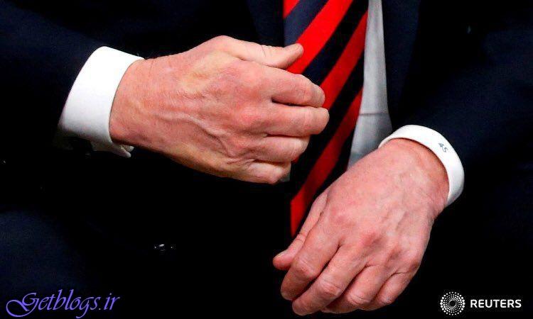 اثر دست دادن عمیق ماکرون با ترامپ (عکس)