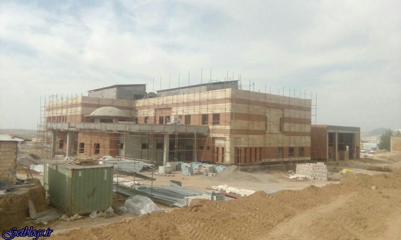 بیمارستان درحال ساخت «تازه آباد» آسیب دید
