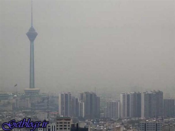خیزش گرد و خاک در پایتخت کشور عزیزمان ایران