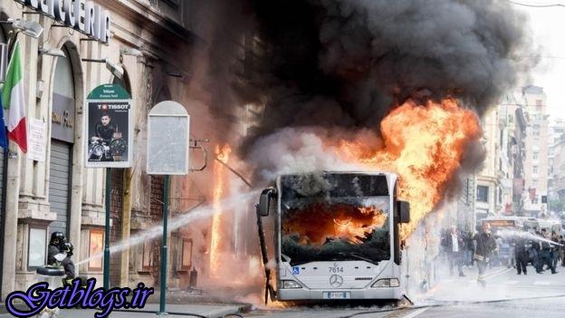 انفجار مهیب اتوبوس در پایتخت ایتالیا