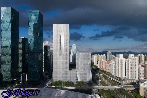 تصاویر برج های چینی با توانایی کنترل نور خورشید