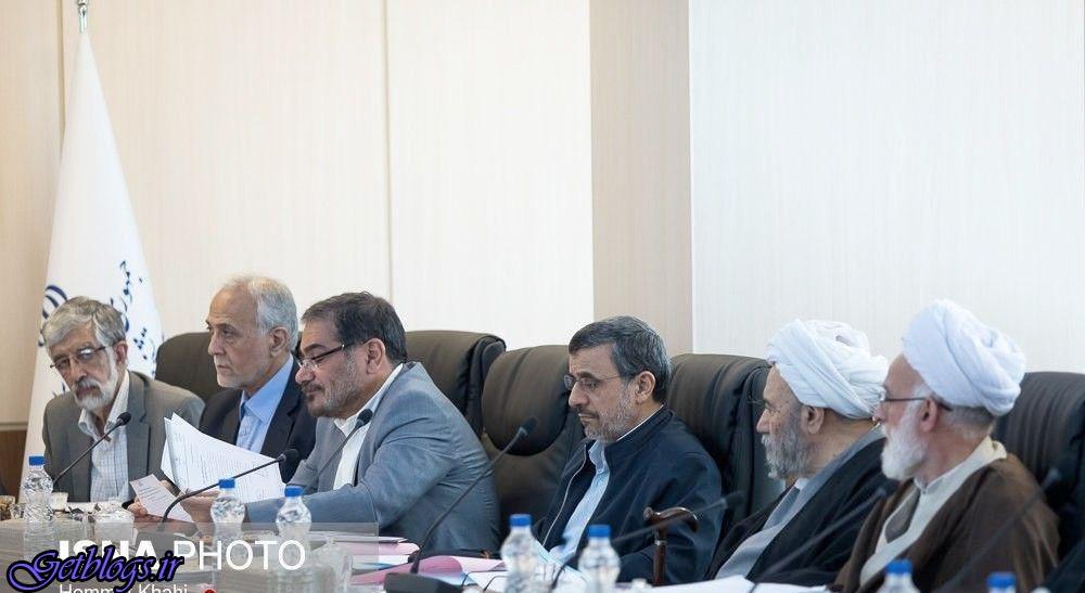 نگاه خاص حدادعادل ، تصویری از محمود احمدینژاد در جلسه مجمع تشخیص مصلحت نظام